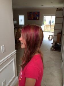 Enieks nieuwe haarkleur