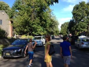 straat vol auto's