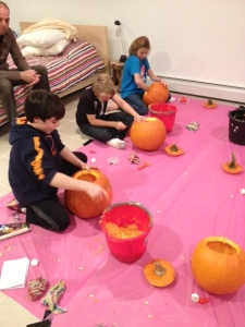 pumpkin carving Stijn's bday