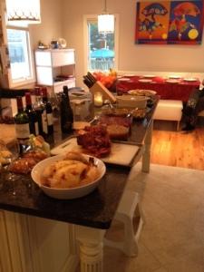het buffet staat klaar
