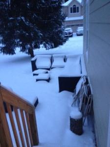 sneeuw op terras