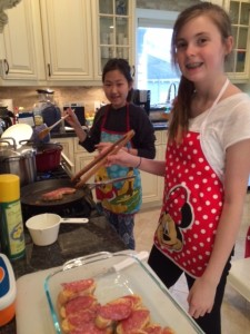 cooking with a friend