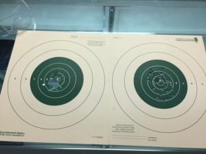 targets at the range